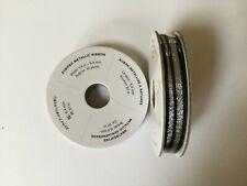 Stampin Up  - Black & Silver Striped Metallic Ribbon - 10yds