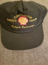 Shell Oil & Gas Contractor Safety Team Snapback Hat Cap Michigan Construction