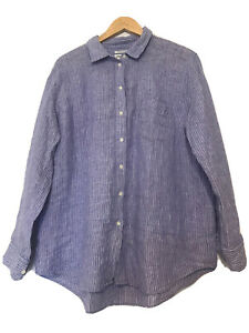 COUNTRY ROAD FRENCH LINEN SHIRT SIZE 14 16