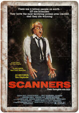 "Scanners Vintage Movie Poster Art 10"" X 7"" Reproduction Metal Sign I52"