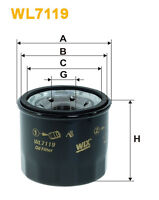 WIX WL7119 Car Oil Filter - Spin-On Replaces W672 PH4997 OC1253