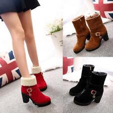 Damen Ankle Boots Wedge Stiefel Stiefeletten Winterschuhe Gr.35 36 37 38 39