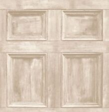Panel de madera crema pared característica de Puerta Fondo de pantalla realista de madera Fine Decor