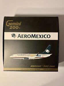 Gemini Jets 1:200 Aeromexico Boeing 737-700 XA-AAM G2AMX181 Go Visa
