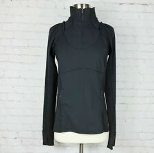 LULULEMON 1/4 Zip Pullover Black Top   Size-8