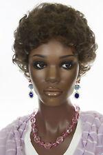 Chestnut Brown Brunette Short Curly Wigs