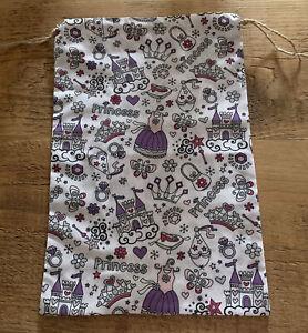 Handmade Princess Pattern Fabric Drawstring Gift Bag