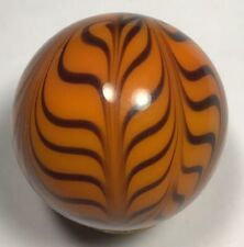 """Contemporary """"Tiger"""" Marble By Gerry Colman. 1.09 Inch, Mint, Made In 1995"""