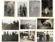 ORIGINAL VINTAGE GERMAN WW2 PHOTOS x 10 TROOPS WITH FRAULEINS