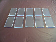 10 Sports Card Holders (4 Screws) Clear Acrylic