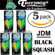 5 PACK Wakaba Japan Treefrog Young Leaf Black Squash Scent JDM Air Freshener