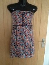 H&M Strapless Floral Dress Size Small