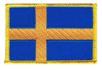 Schweden Aufnäher Flaggen Fahnen Patch Aufbügler 8x6cm