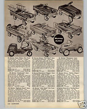 1960 PAPER AD 2 PG Murray Pedal Car Hot Rod Continental Kidillac Air Force Jeep