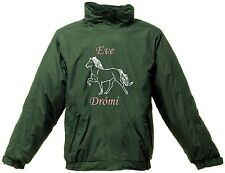 PERSONALISED PRINTED ICELANDIC HORSE  REGATTA RIDING JACKET WATERPROOF HOOD