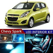 7 pcs LED ICE Blue Light Interior Package Kit for Chevy Spark 2012-2017