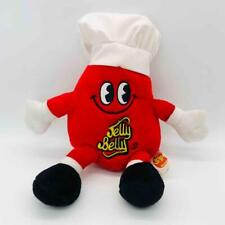 """Mr. Jelly Belly 12"""" Cherry Red Mascot Chef's Hat Plush Stuffed Animal Bean Beans"""