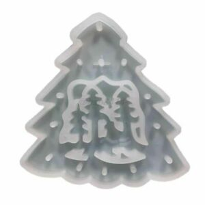 Resin Mold Christmas Tree Pendants Casting Silicone Handmade Crafts Making Tools