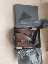 BNIB - Belstaff Trialmaster Dark Brown Suede Boots Size 10 (44) (RRP £450)