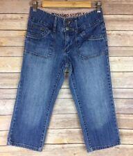 Mossimo Girls Capri Jeans 14 Medium Wash Adjustable Waist