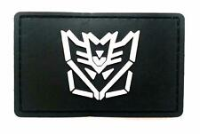 """Transformer"" Logo Paintball Airsoft PVC Velcro Patch (Black / White)"