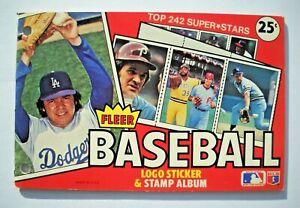 1981 Fleer MLB Sticker & Stamp Book Album