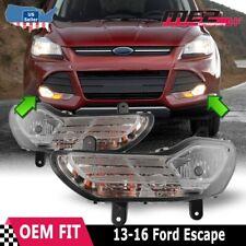 2013-2016 Ford Escape Clear Bumper Fog Light L+R 1 Pair (Fits: 2016 Ford Escape)