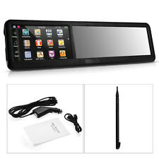 "Backup Camera 4.3"" Bluetooth Rearview Mirror GPS Navigation America Map"