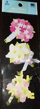 WEDDING BOUQUET Bouquets Bridal Bride Flowers Flower Jolee's Stickers Scrapbook