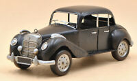 Vintage 1/12 Diecast Mercedes Benz 300 Black and Silver Scale Model Sculpture