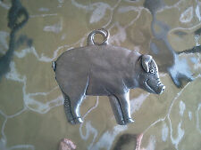 IT'S WERE BACON COMES FROM PIG HOG ANIMAL 2 PEWTER 3D MEDALLION PENDANT ALL NEW