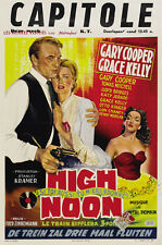 High Noon Gary Cooper Grace Kelly cult movie poster print