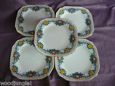 5 EARLY 20TH Century Thomas FORESTER & SONS PHOENIX CHINA FLOWER PLATES FLORAL