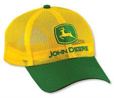 NEW John Deere Yellow All Mesh Cap JD Hat LP14424