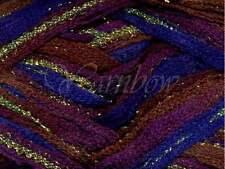 Euro Yarns ::Broadway #05:: ruffle scarf yarn Wine-Bluet w/Gold 50% OFF!