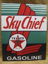 Texco Sky Chief Tin Metal Sign Decor Gas Oil Gasoline  NEW