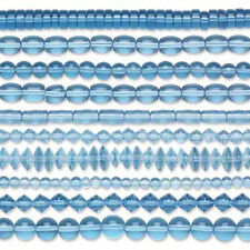 Lot of 100 Assorted Shape Solid Glass Beads in a Mix of Round Disc Oval Tubes +