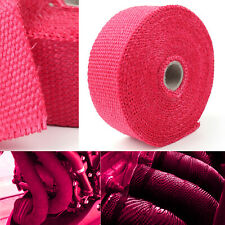32.8ft Roll Fiberglass Exhaust High Header Pipe Heat Wrap Tape Cover Red