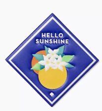 Kate Spade Women's Blue Ashe Place Hello Sunshine Sticker New