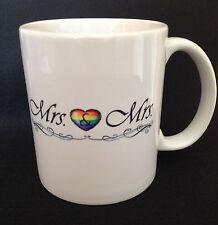 """Mrs & Mrs"" Just Married lesbian / gay 11oz Coffee Mug FREE & FAST SHIPPING"