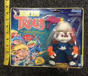 Hasbro The Original Battle Trolls Roadhog Troll On Card Used free shipping