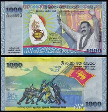 SRI LANKA 1000 RUPEES (P122) 2009 COMMEMORATIVE ISSUE UNC
