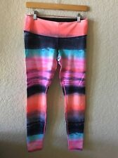 Lululemon Beachscape Wunder Under Pant Size 8 Pink Orange Blue Rare