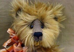 """Wee Paws Creations Mohair Teddy Bear 17"""" by Judith Fox"""