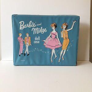 Barbie And Midge Doll Storage Case Vintage 1963 Mattel Vinyl Case Rare