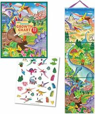 Height Chart, Dinosaurs by Eeboo.  With 33 Stickers.  Brand New.  Gift Box.