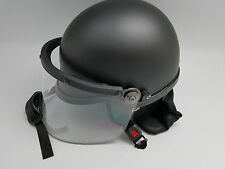 Black Riot Helmet with Neck Guard and Full Face Shield NEW