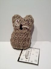 Nwt Cute Aman Tan Knit Owl Christmas Ornament Free Shipping in Us!
