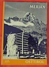 Merian Heft 15. Jg.- 1962 Nr 11 , Osttirol  , TOP