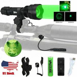 Green RED Hunting Flashlight Spotlight Night Varmint Light for Predator Coyote